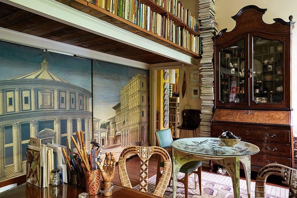 Barnaba Fornasetti's studio