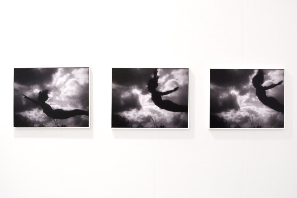 IKARUS, images 1, 2 and 3, 1974, by Hans Breder