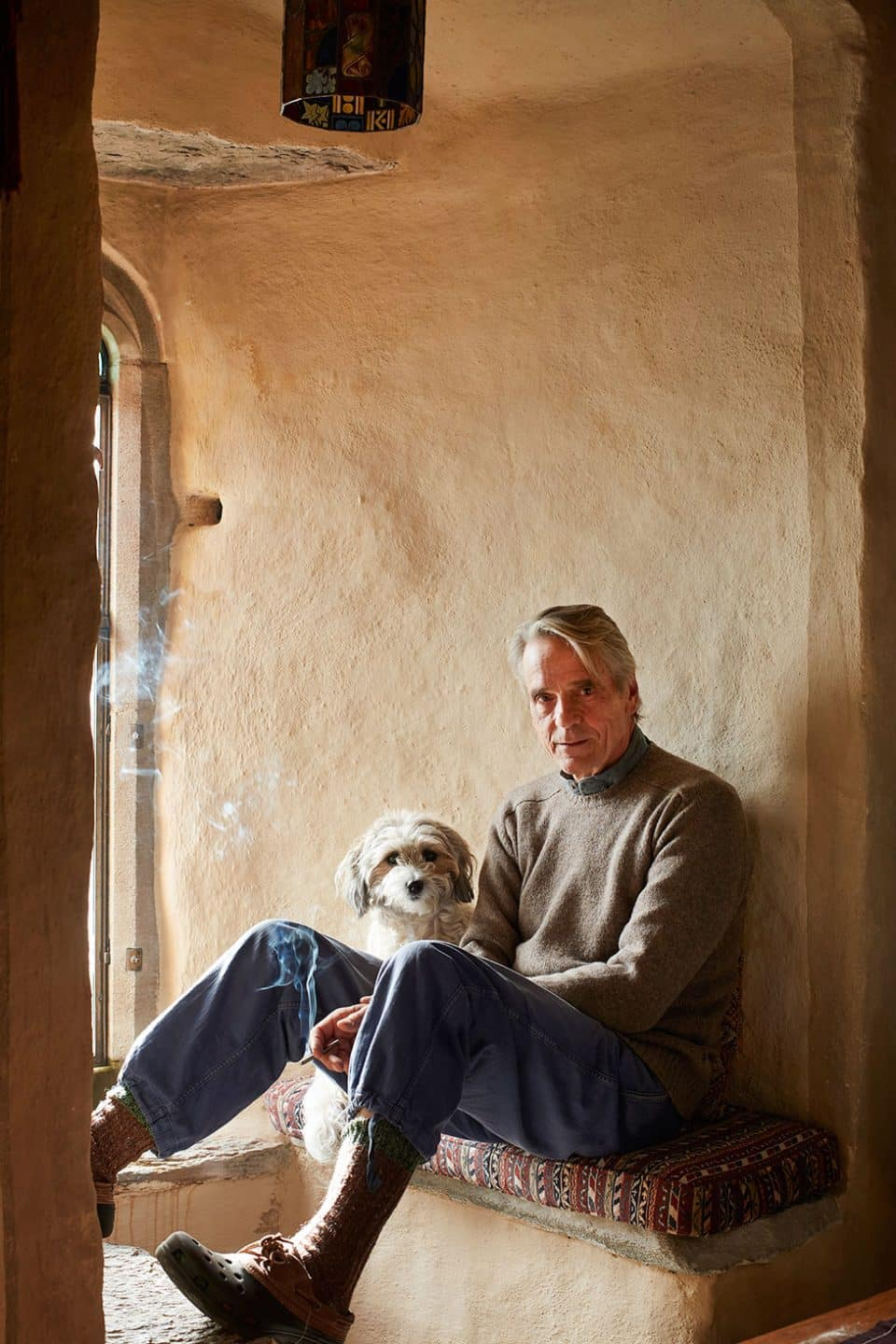 Oscar Winner Jeremy Irons on His Irish Castle and Antiques Obsession