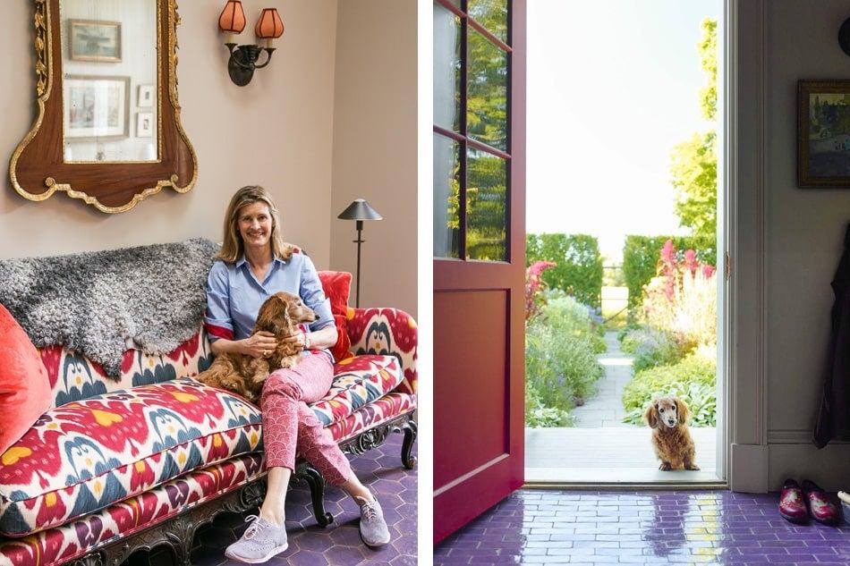 Katie Ridder and dachshund