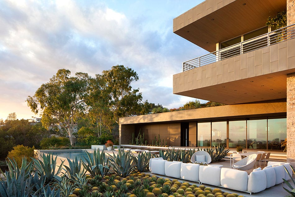 An exterior design by Marmol Radziner in Summitridge