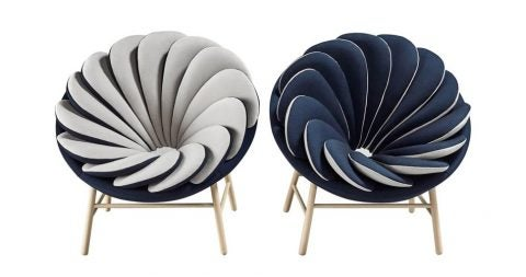 Pair of Marc Venot Quetzal fauteuils, new, offered by Galerie Philia Furniture