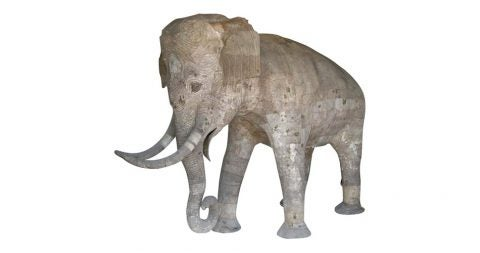 Life-size papier-mâché elephant, 1970, offered by Dos Gallos