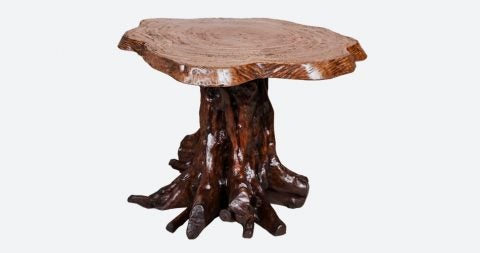 Tree trunk table, 20th century