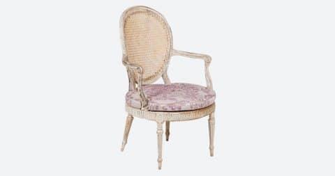 George III open armchair, ca. 1790