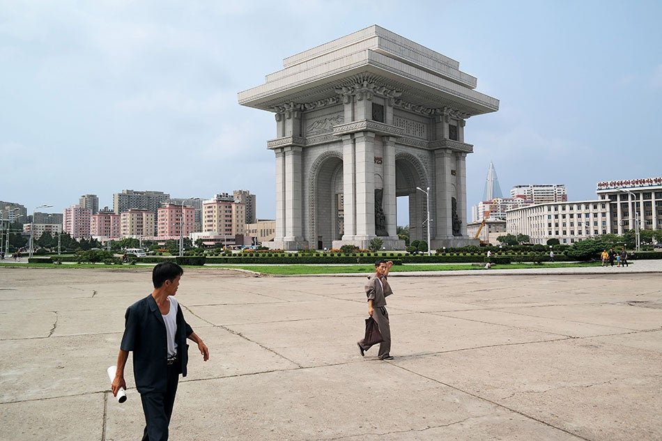 The Arch of Triumph in North Korea