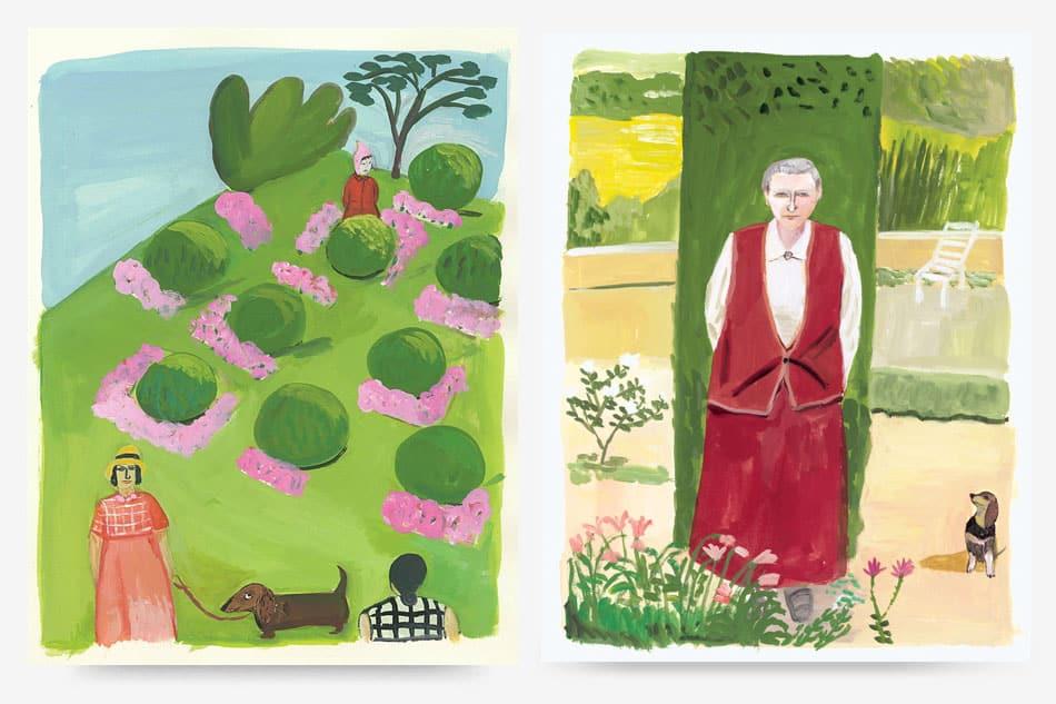 Maira Kalman dachshund paintings