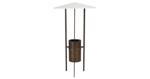 Philip Johnson and Richard Kelly floor lamp, ca. 1950, offered by Converso