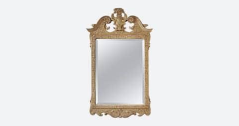 Gesso-work mirror, 1725