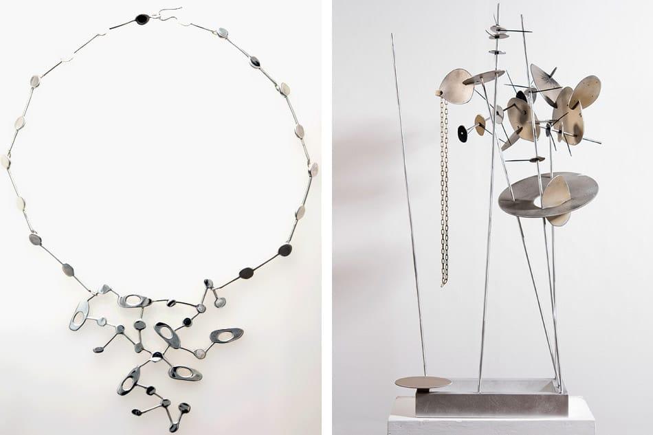 Constellation necklace and Creature #1 by Carolina Sardi