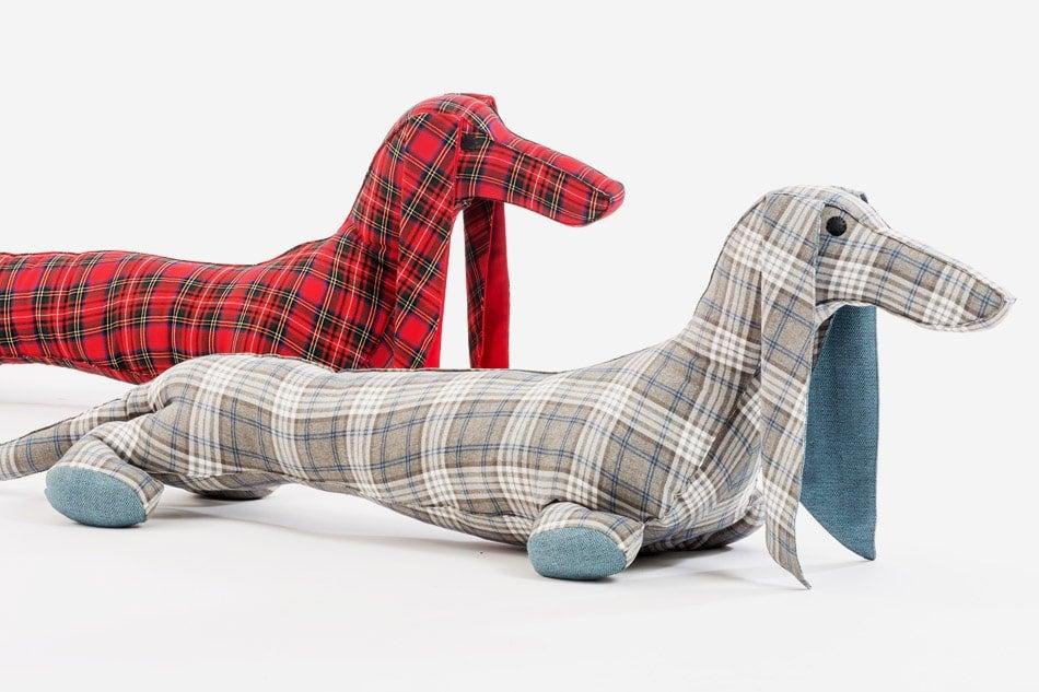 dachshund-shaped floor pillows