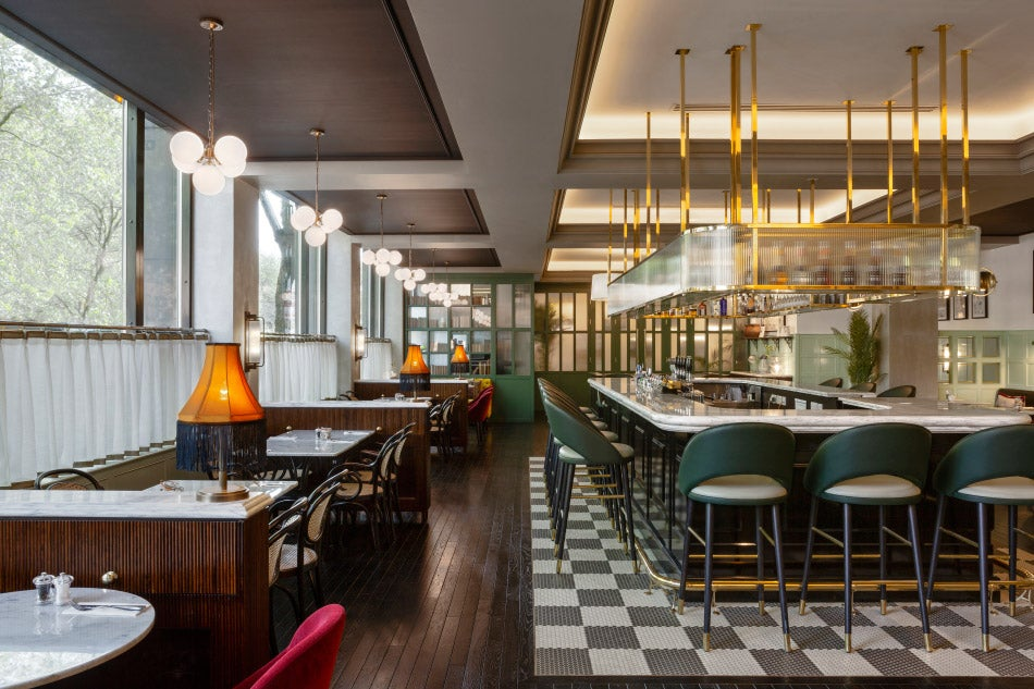 tables and bar at The Green by Bryan O'Sullivan