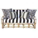Bent-bamboo three-seat sofa, 1960s