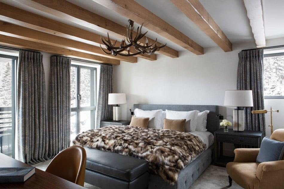 A master bedroom designed by Bryan O'Sullivan