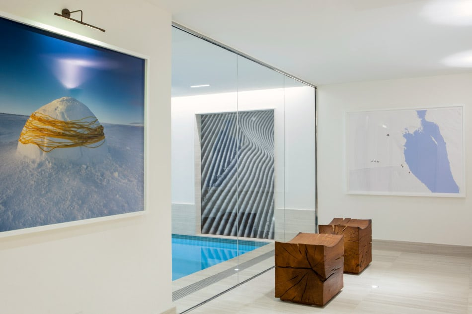 An indoor pool designed by Bryan O'Sullivan