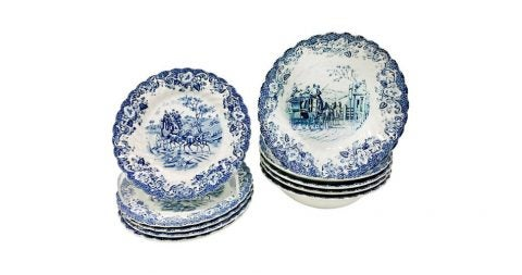 Johnson Brothers 10-piece set of English transferware, 1963–83, offered by JMD Boutique