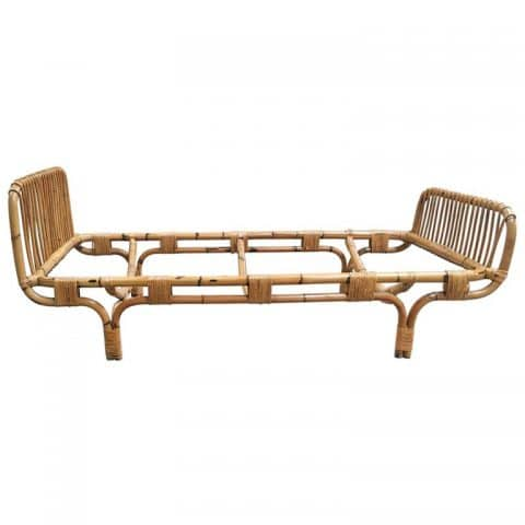 Italian bamboo single bed, 1960s, offered by ExtraDesign Selection