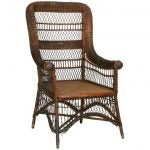 American Victorian/Mission wicker armchair, 20th century