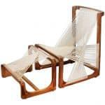 Asa Kärner for Alvi Design silk chair and ottoman, 21st century
