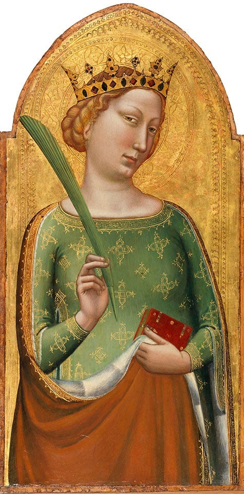 A Crowned Virgin Martyr (St. Catherine of Alexandria), ca. 1334–1338, by Bernardo Daddi