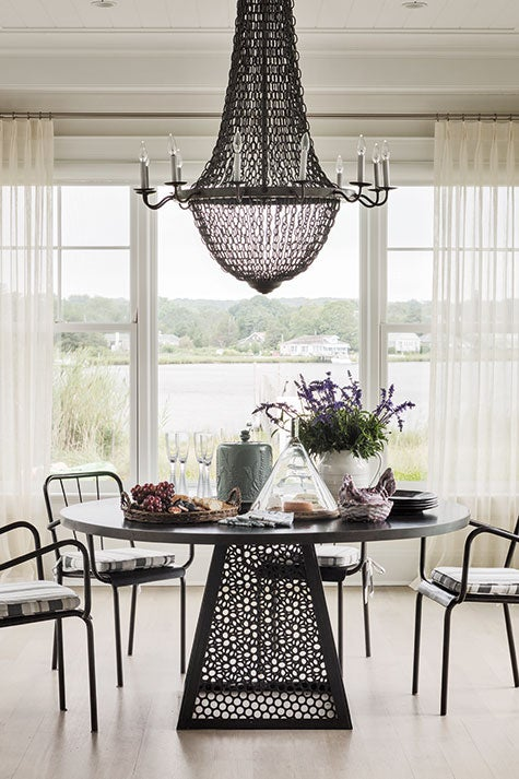 Sag Harbor dining room by Mark Epstein