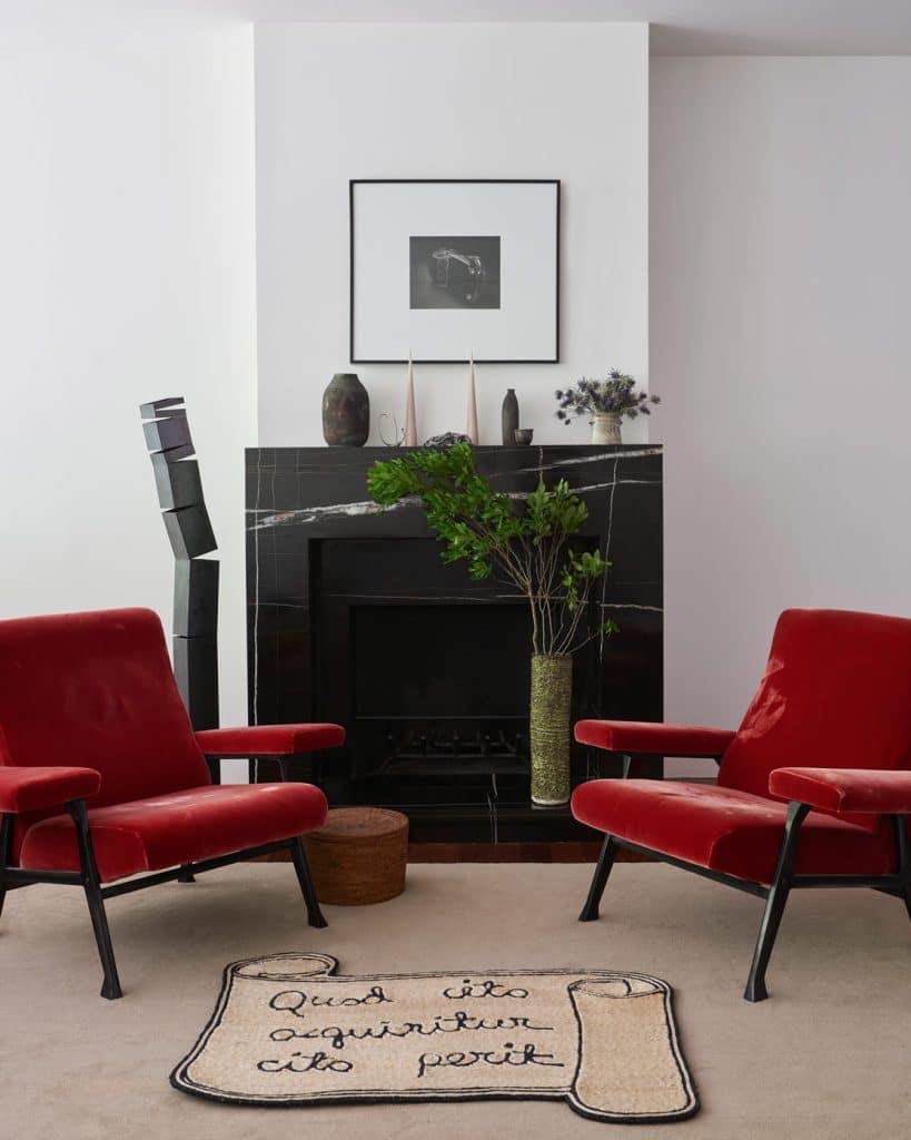 Seating area designed by Charlap Hyman & Herrero
