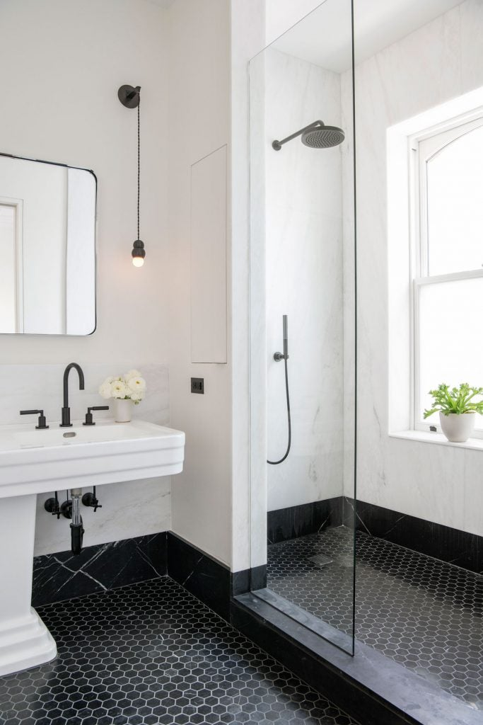 Bathroom designed by Elizabeth Roberts