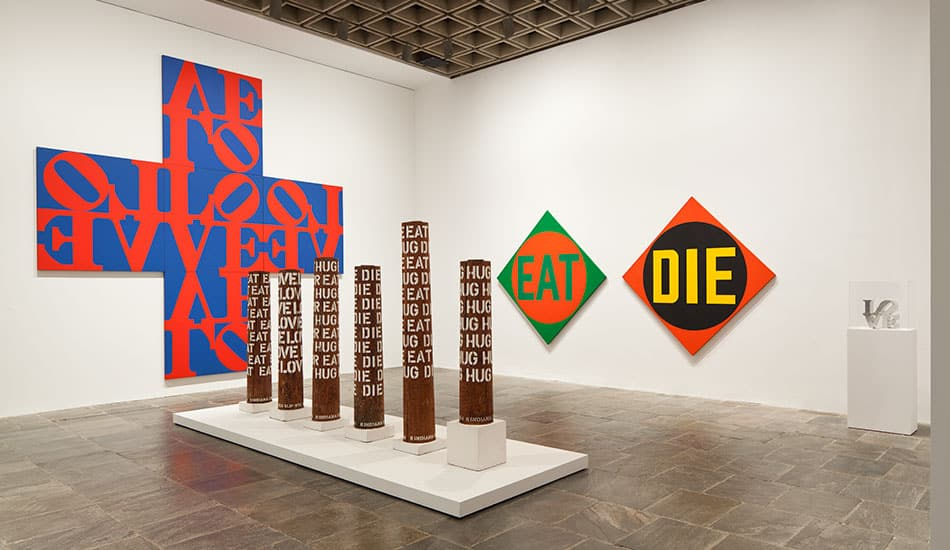 Robert Indiana installation at the Whitney Museum of American Art