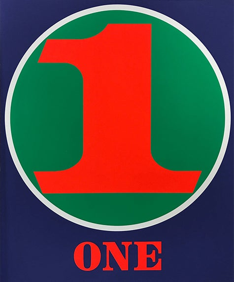Number Suite- One by Robert Indiana