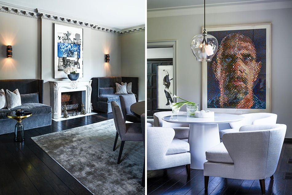 Dining room and breakfast room by Julie Charbonneau Design