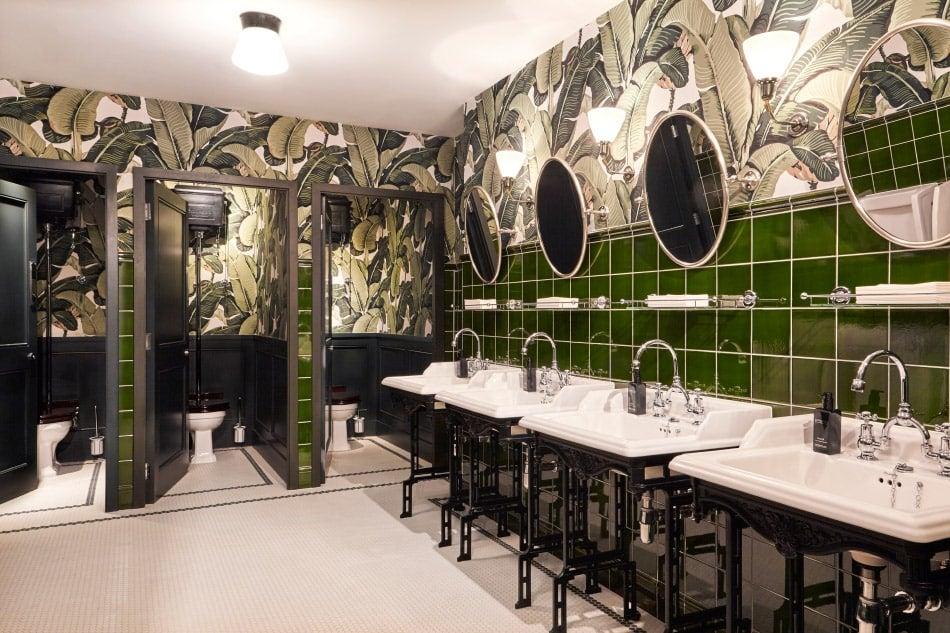 A men's restroom designed by Bryan O'Sullivan