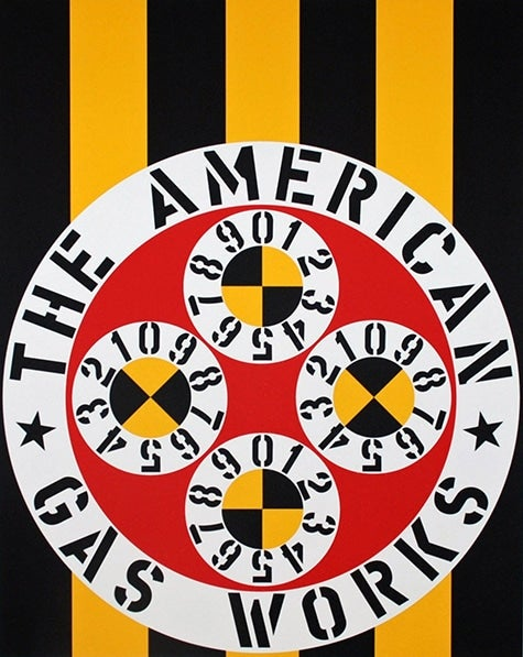 The American Gas Works by Robert Indiana