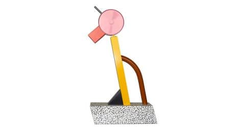 Ettore Sottsass for the Memphis Group Tahiti lamp, 1981, offered by Porter & Plunk