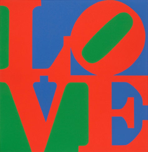 Love (Green,Red,Blue) by Robert Indiana