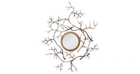 Hervé van Der Straeten bronze Branches mirror, 2008, offered by Maison Gerard