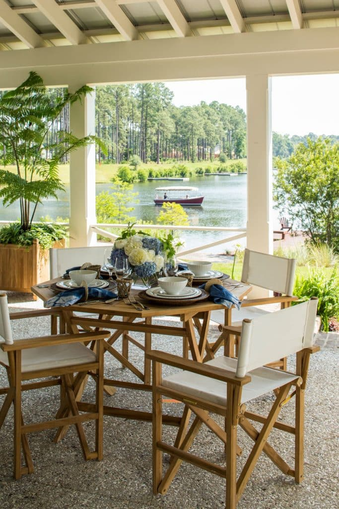 Outdoor dining area by Pursley Dixon