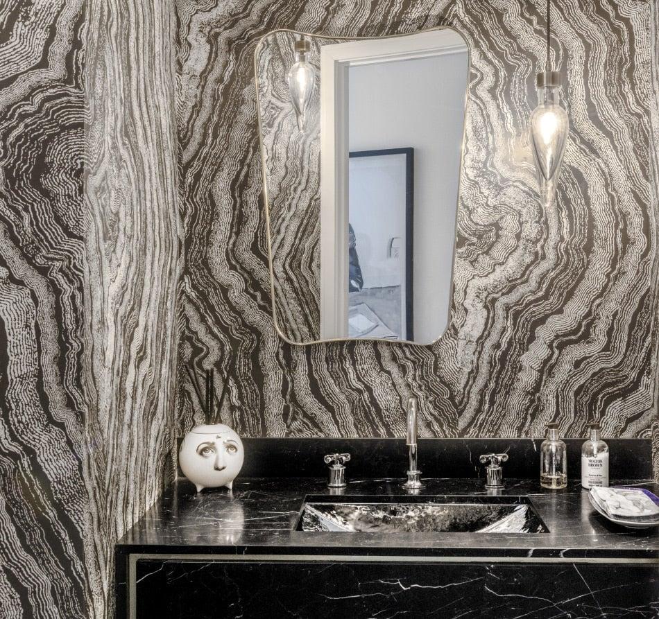 powder room by Paris Forino