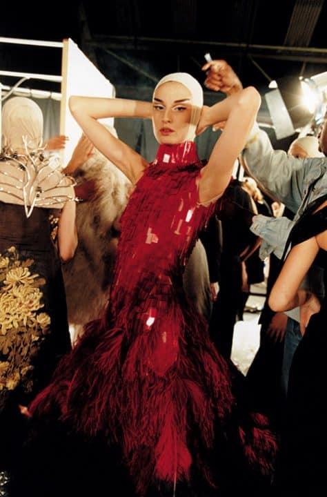 Model at Alexander McQueen show