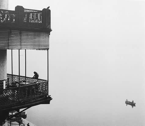 Untitled (Monkey on Balcony / Two Men in Boat), 1999
