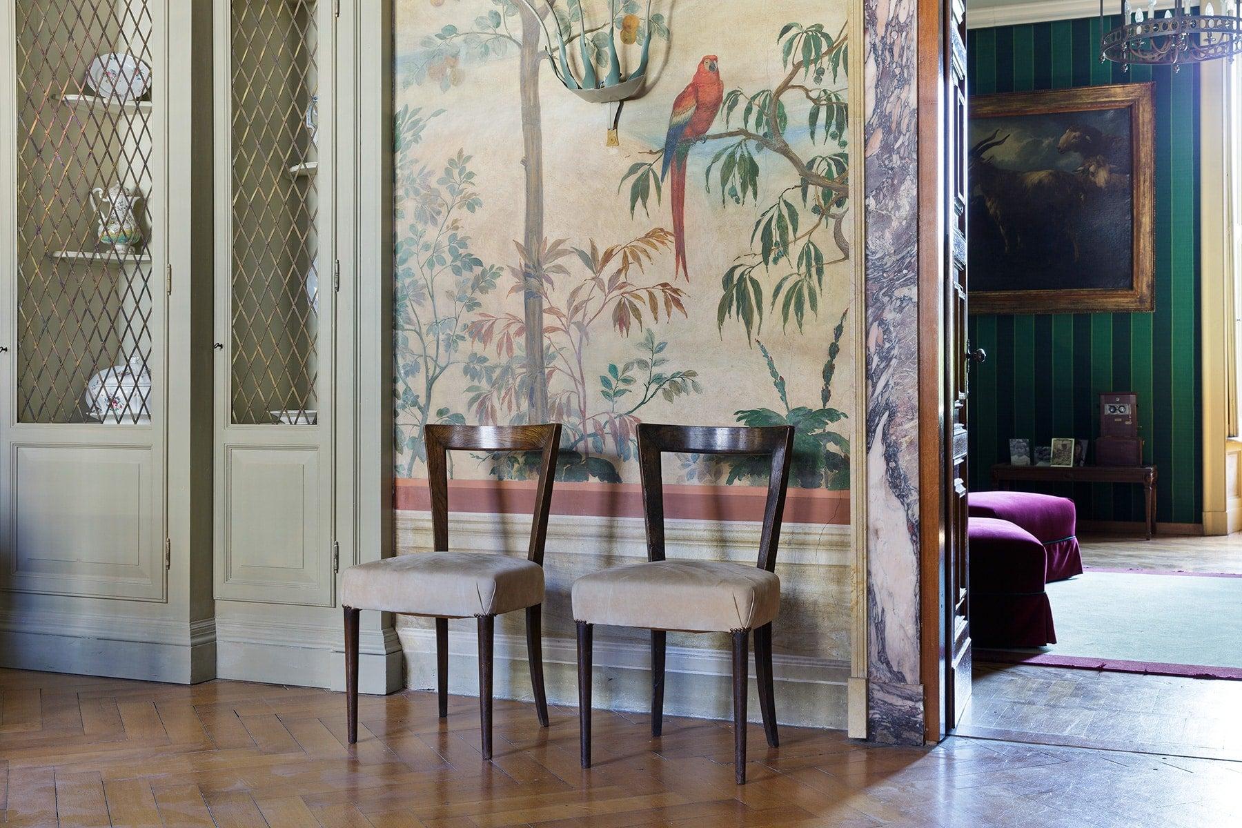 Piero Portaluppi Casa degli Atellani Milan chairs dining hall
