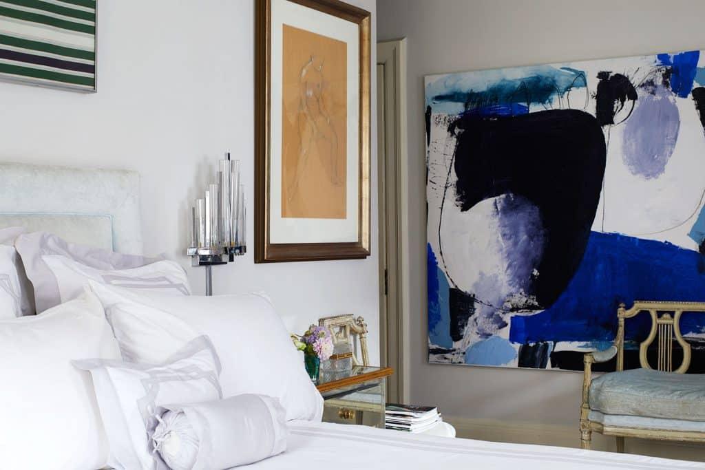 Blair Voltz Clarke and Alistair Clarke New York apartment bedroom