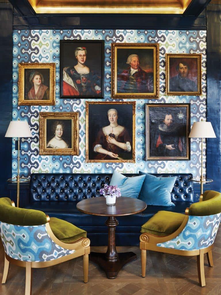 Susanna Salk Power of Pattern book Martyn Lawrence Bullard Swiss chateau