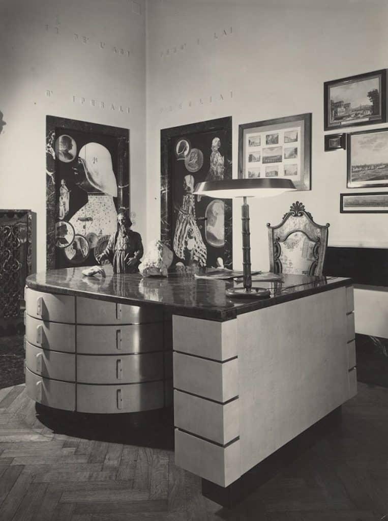 Piero Portaluppi Milan studio Omnibus desk