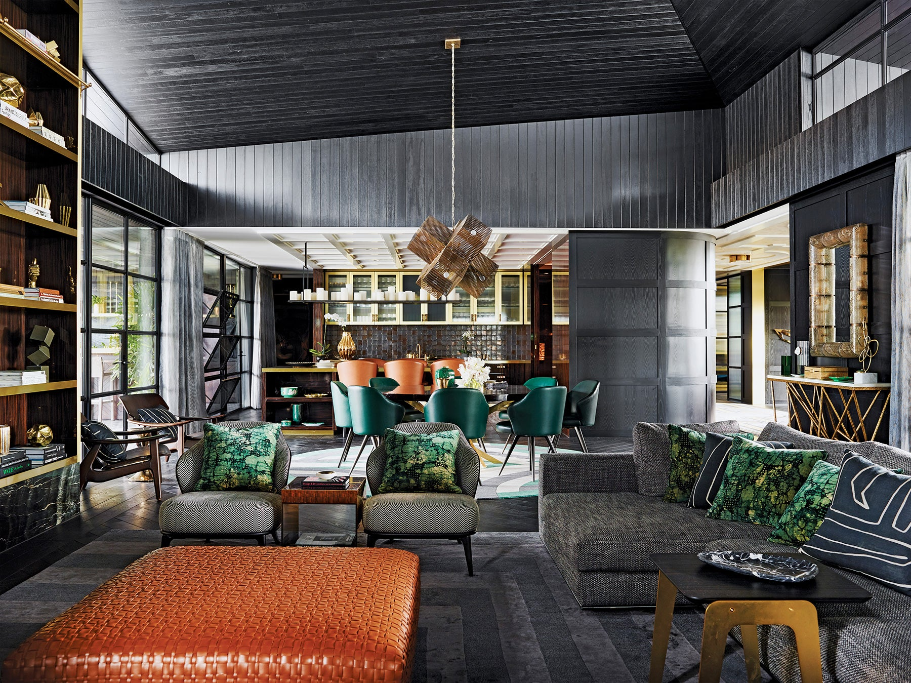 living and dining areas in a Victoria, Australia, country house