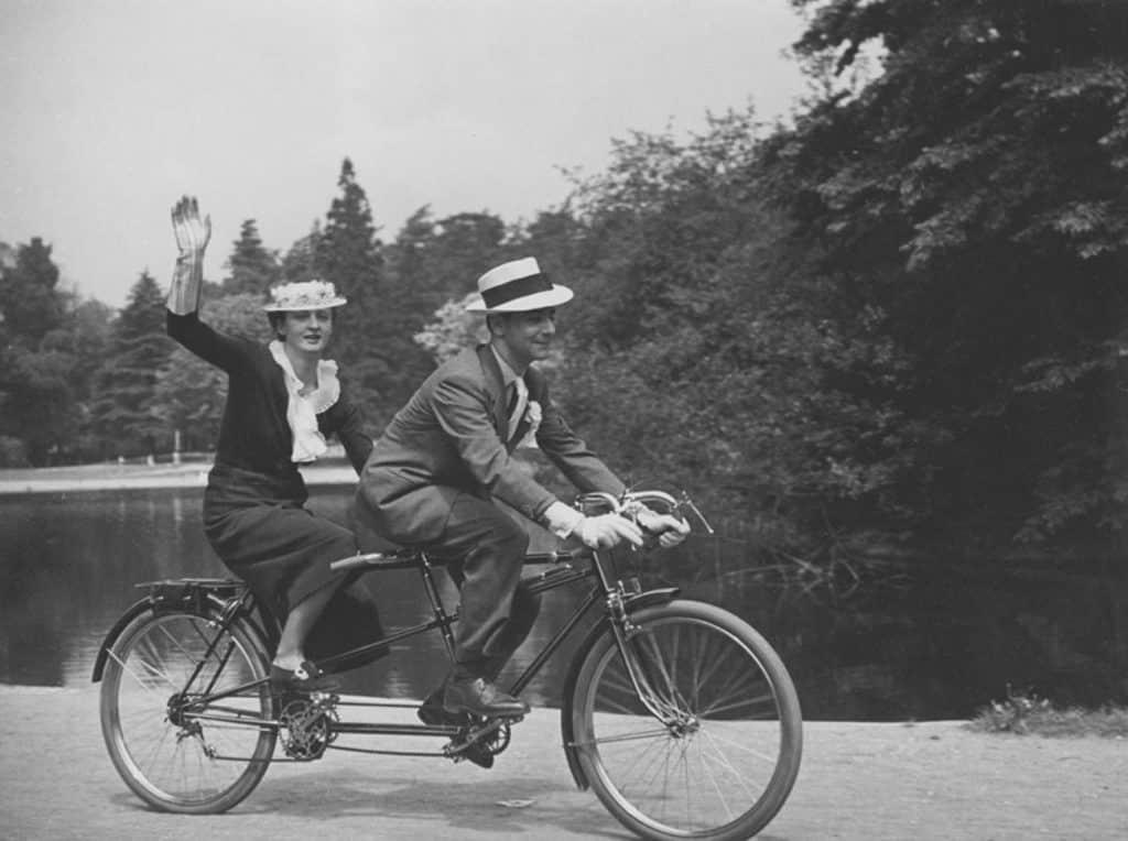 Victor Grandpierre on a bike