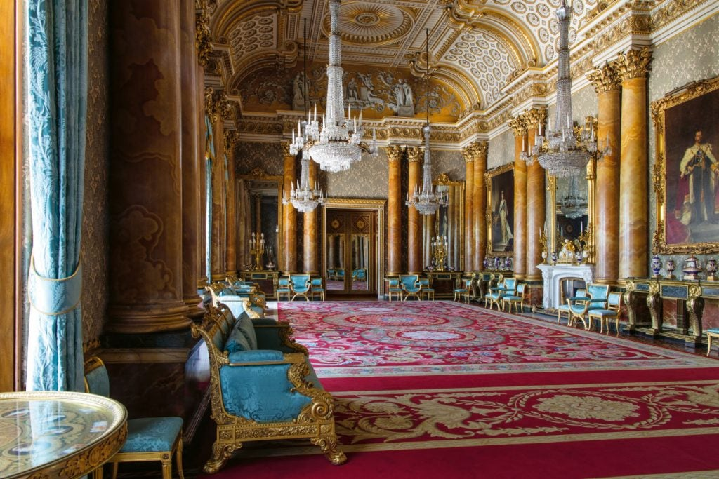 Ashley Hicks Book Buckingham Palace: The Interiors Rizzoli Blue Drawing  Room London England