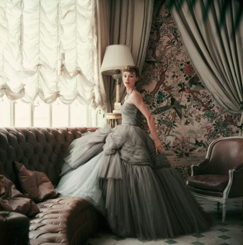Sophie Malgat in Dior, photo by Mark Shaw