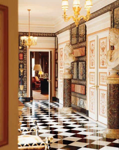 entrance hall by Renzo Mongiardino