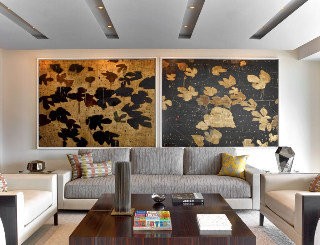 Hariri & Hariri Architecture Manhattan apartment living room