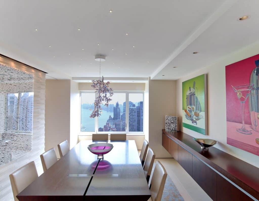 Hariri & Hariri Architecture Manhattan apartment dining room